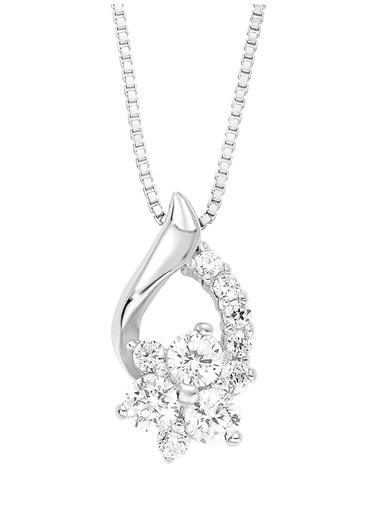 Amor Amor 9194629 925 Ayar Gümüş Zirkon Taşlı Kadın Kolye Renksiz
